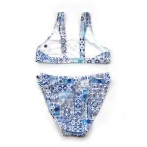 Girls Azule Crop Bikini Set