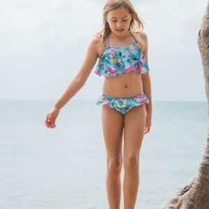 Girls Tropicale Flounce Frill Bikini